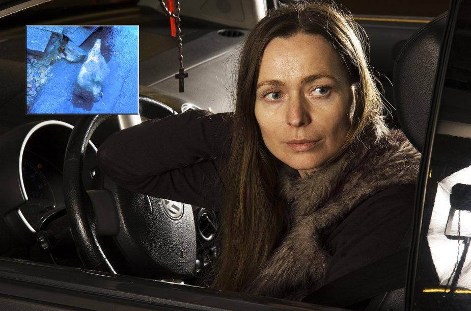 Julija Estko su kelių policija bylinėjosi dėl akmens, apgadinusio jos automobilį.