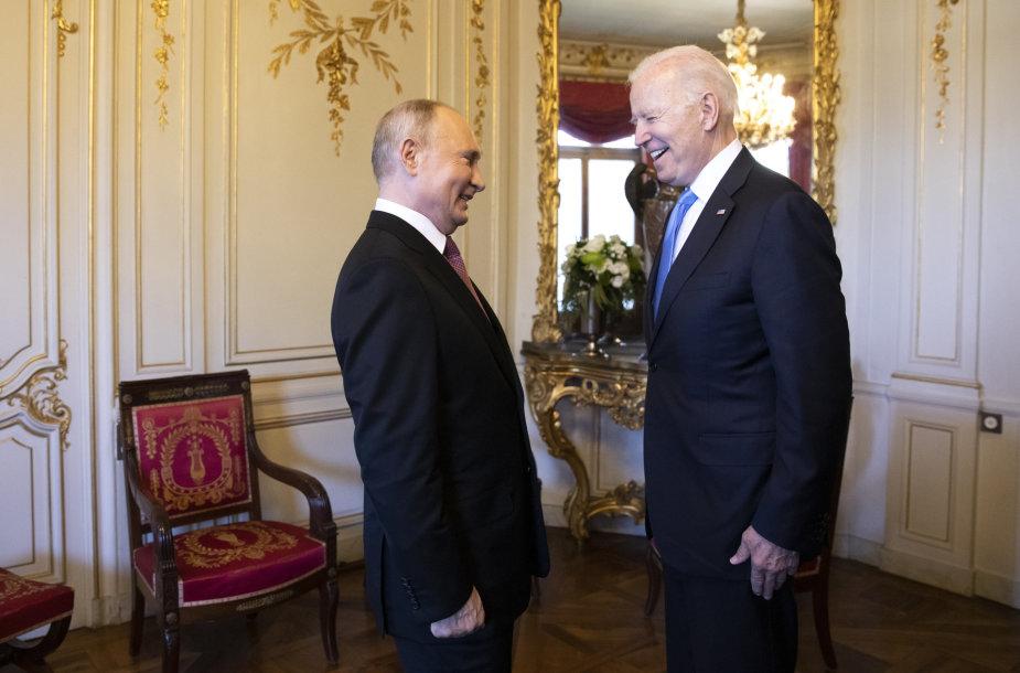 Vladimiras Putinas ir Joe Bidenas Ženevoje