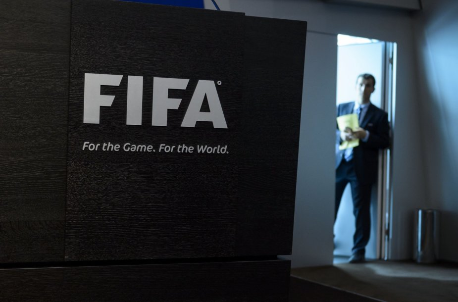 FIFA būstinė prieš spaudos konferenciją