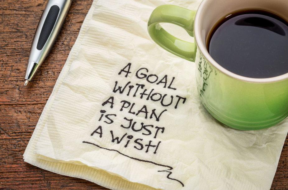 Tikslas be plano yra tik noras.