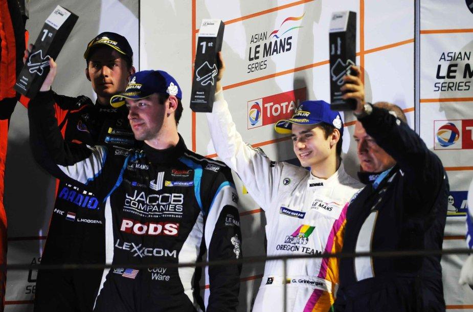 Gustas Grinbergas Malaizijoje šventė pergalę LMP2 AM klasėje