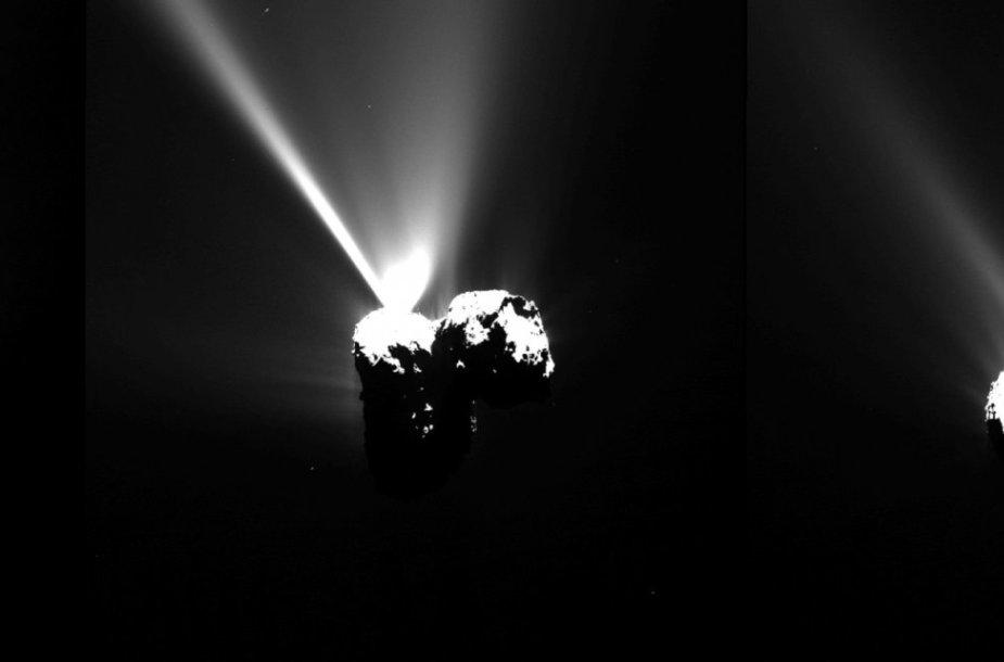 """Kosminio zondo """"Rosetta"""" lydima kometa"""