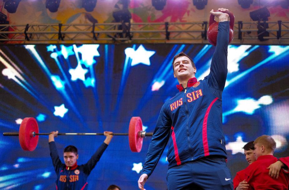Rusija nepripažįsta dopingo problemų savo šalyje.