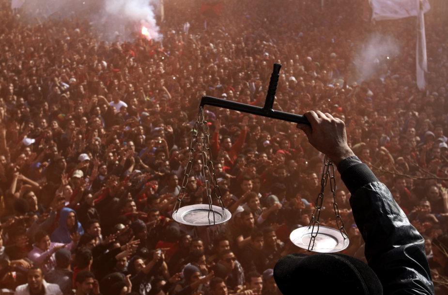 Minia Egipte švenčia mirties nuosprendžio paskelbimą