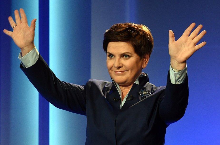 Kandidatė į Lenkijos premjeres – PiS atstovė Beata Szydlo