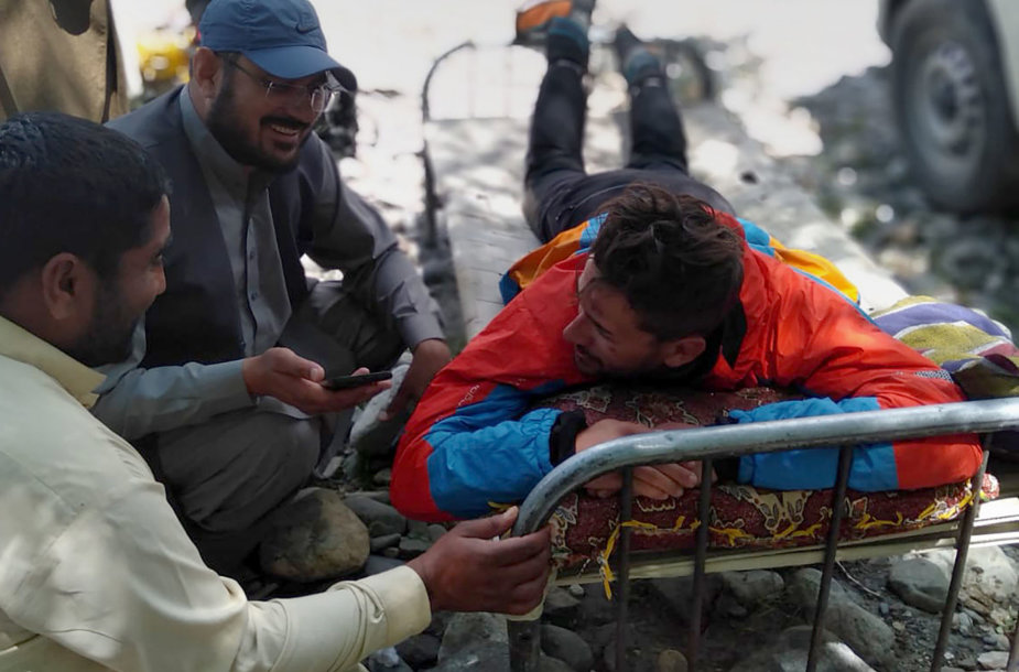 Vienas Pakistane išgelbėtų alpinistų