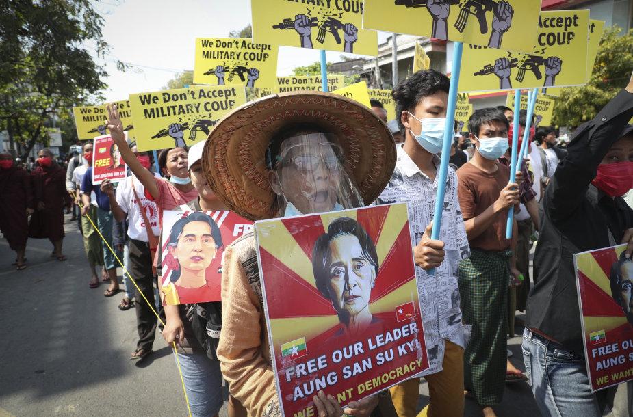 Aung San Suu Kyi rėmėjai