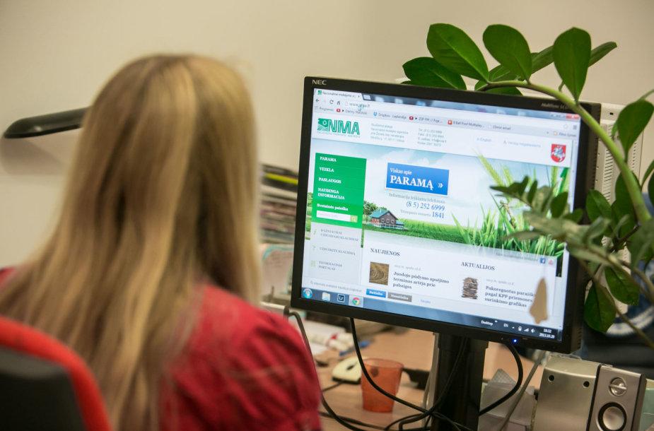 NMA informaciniu portalu naudojasi vis daugiau paramos gavėjų. noriufoto.lt nuotr.