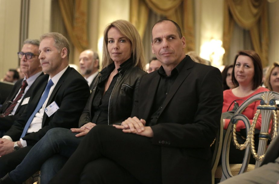J.Varufakis su žmona Danaje.