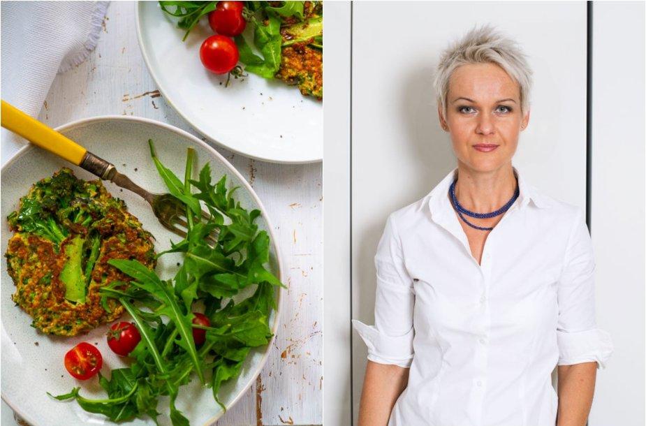Nida Degutienė ir jos kepti brokolių kepsneliai