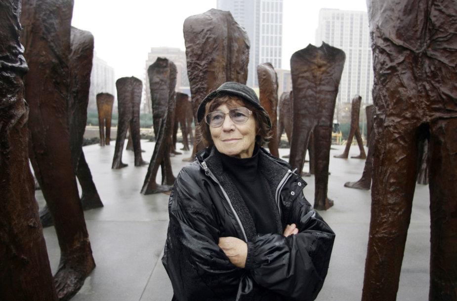 Lenkų skulptorė Magdalena Abakanowicz