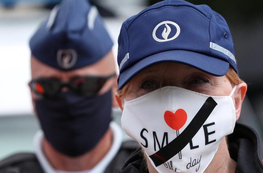 Pareigūnų protestas Briuselyje