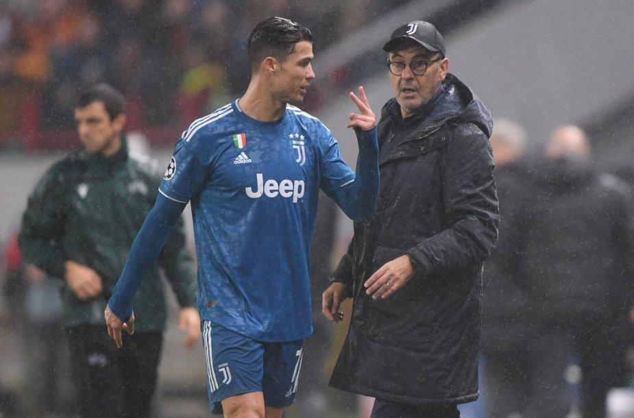 Cristiano Ronaldo ir Maurizio Sarri