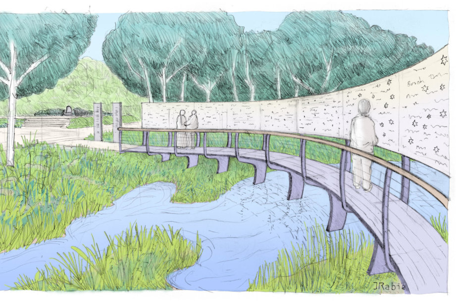 Biržuose atidengiamo memorialo dizainas (autorius – architektas dr. Joseph Rabie)