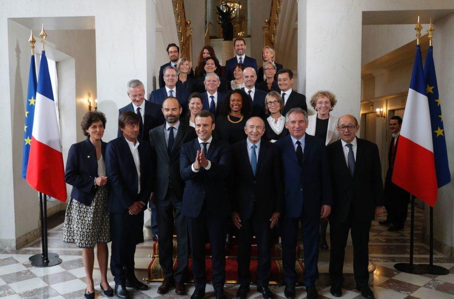 E.Macrono gegužės viduryje pristatytas ministrų kabinetas