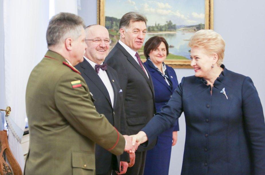 Dalia Grybauskaitė susitiko su Valstybės gynimo taryba.