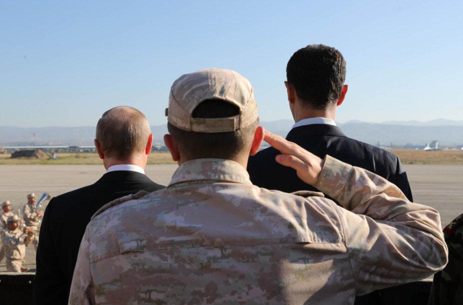 V.Putinas (kairėje) ir B.al-Assadas Sirijoje