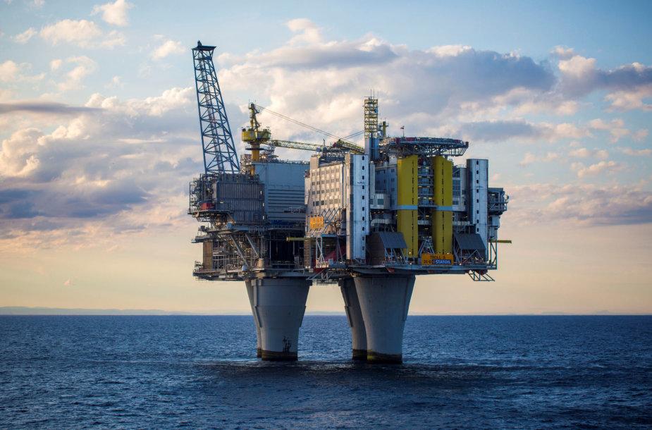 Naftos platforma Šiaurės jūroje