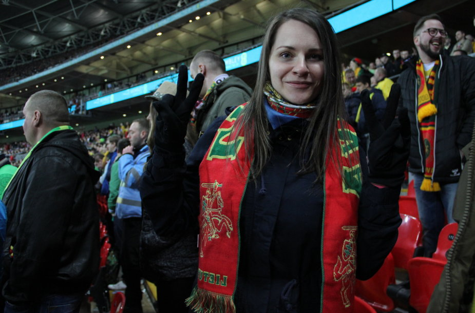 "Lietuvos sirgaliai Londone ir Londono ""Wembley"" stadione"