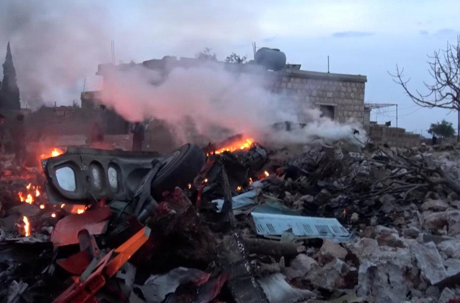 Sirijoje numuštas Rusijos naikintuvas