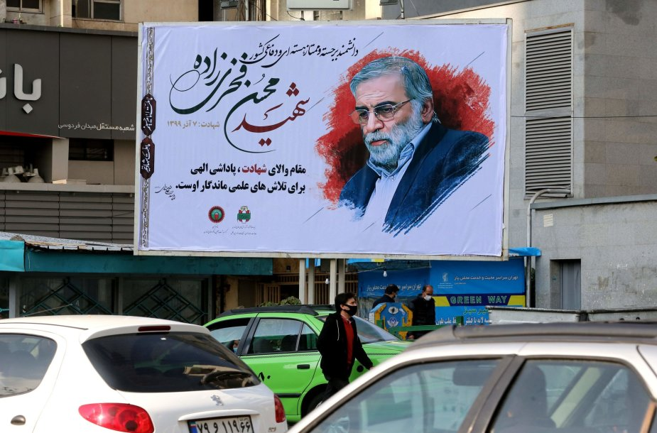 Mohseno Fakhrizadeh atvaizdas Teherane