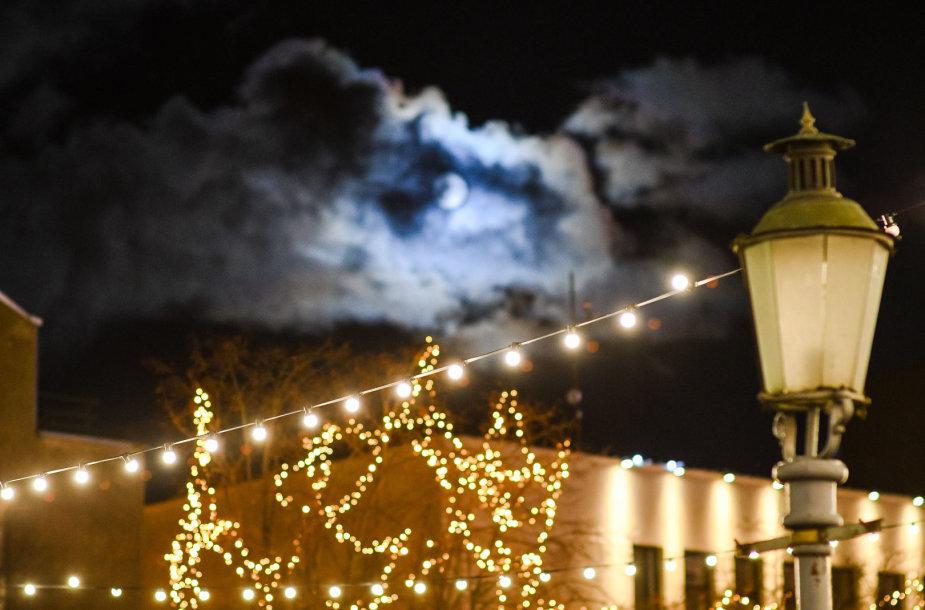 Eglučių įžiebimo šventės Klaipėdoje akimirkos.