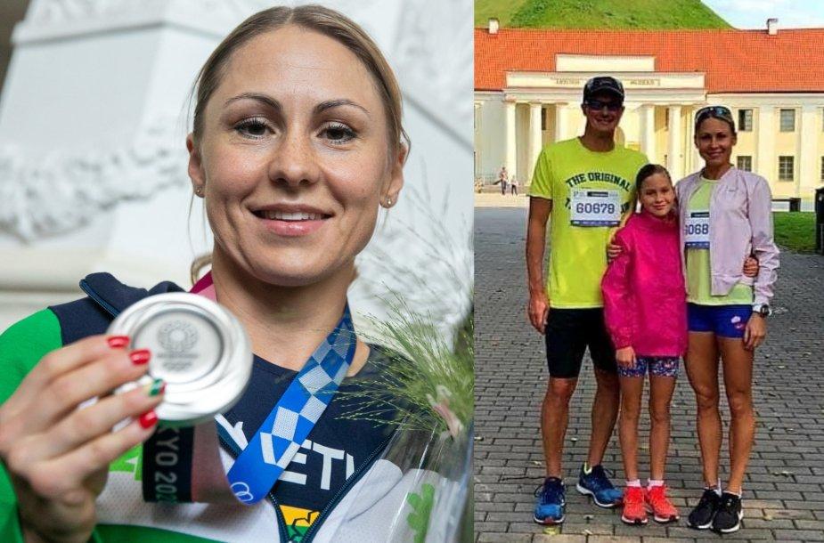 Laura Asadauskaitė su šeima