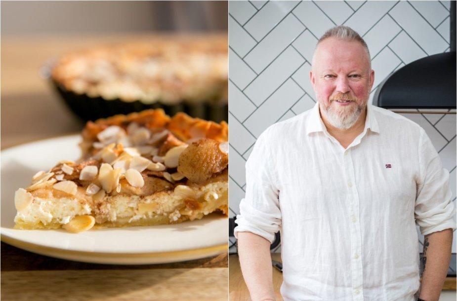Vytaras Radzevičius ir jo keptas bavariškas pyragas