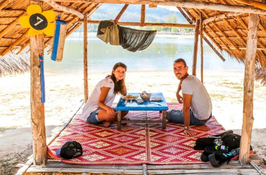 Simona ir Jevgeni Filippovai Tailande