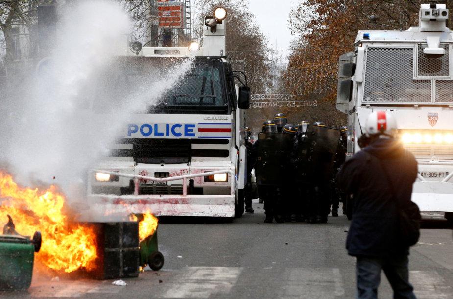 Šeštadienio protestai Prancūzijoje