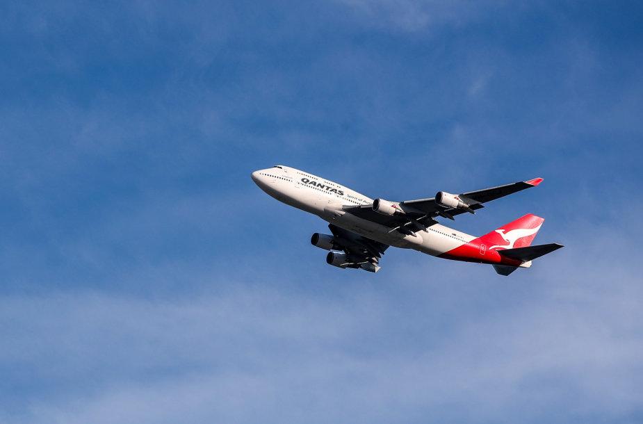 """Australijos vežėja """"Qantas Airways"""" atsisveikino su savo paskutiniuoju """"Boeing 747"""""""