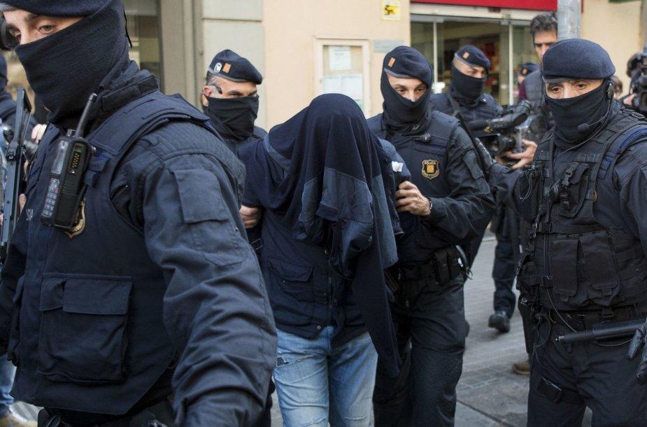 Ispanijoje areštuoti du įtariami džihadistai