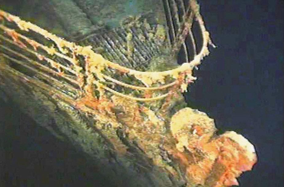 """Titaniko"" nuolaužos vandenyno dugne"