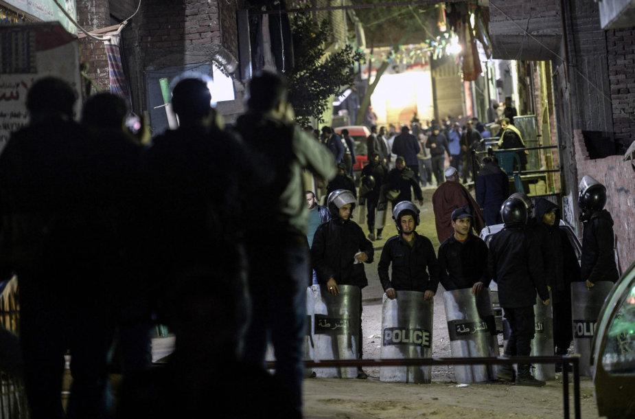 Egipto policija įvykio vietoje