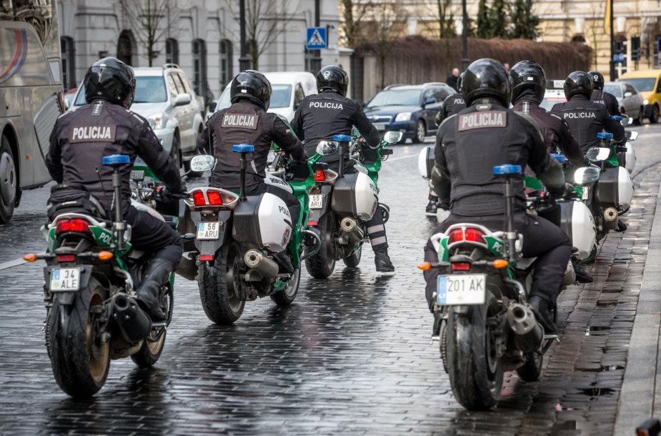 Atidarytas policijos motociklininkų sezonas