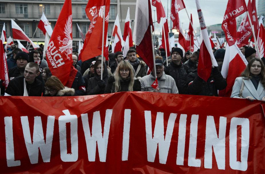Nacionalistų eisena Varšuvoje
