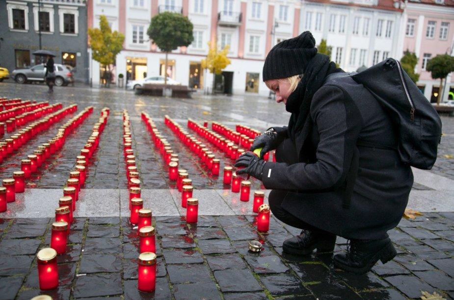 Vilniuje žvakučių akcija organų donorams pagerbti
