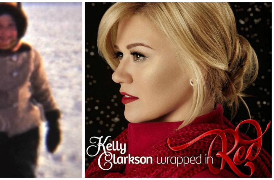 """Kelly Clarkson vaizdo klipe """"Wrapped in Red"""" – akimirkos iš jos vaikystės"""