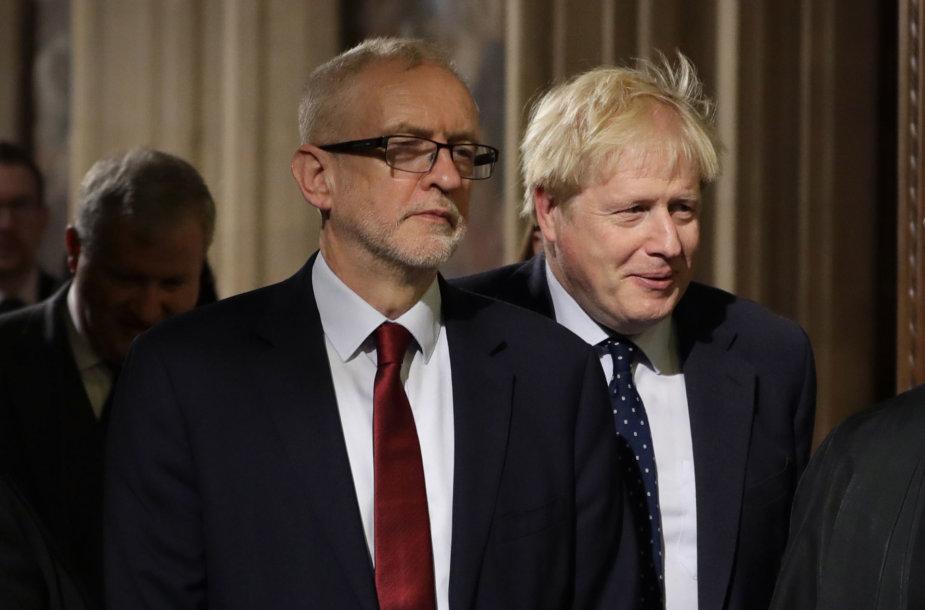 Jeremy Corbynas, Borisas Johnsonas