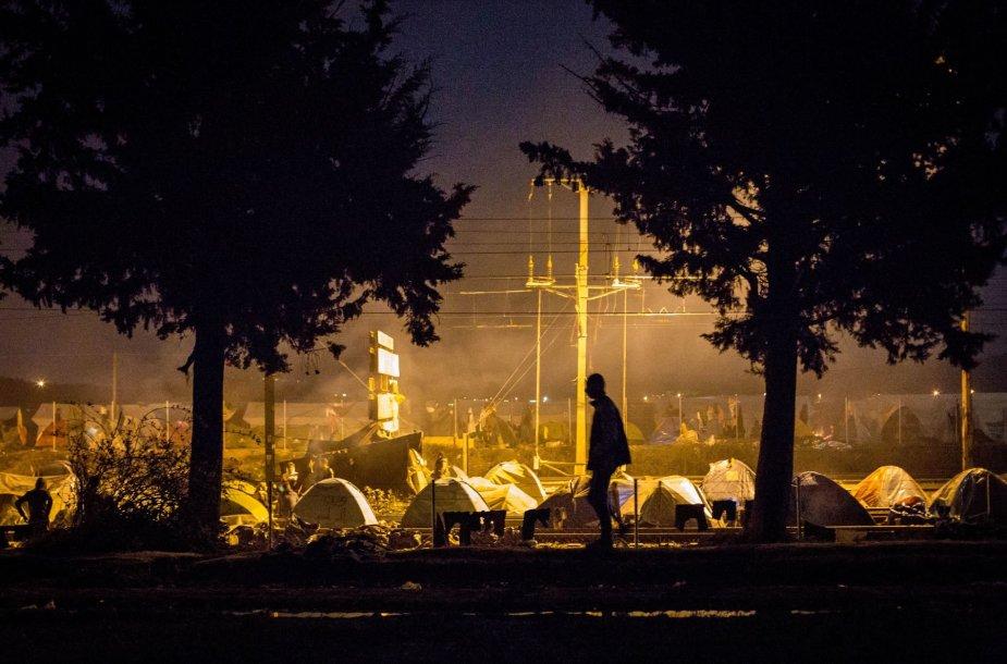 Idomeni (Graikija) pabėgėlių stovykla