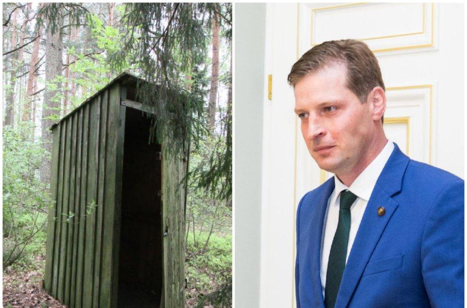 Kęstutis Mažeika skatina savivaldybes kovoti su lauko tualetais