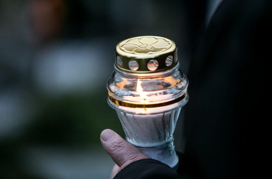 Vytauto Petro Bložės laidotuvių akimirka