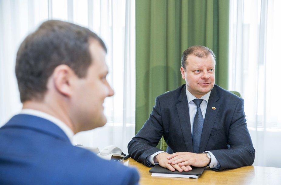 Gintautas Paluckas ir Saulius Skvernelis