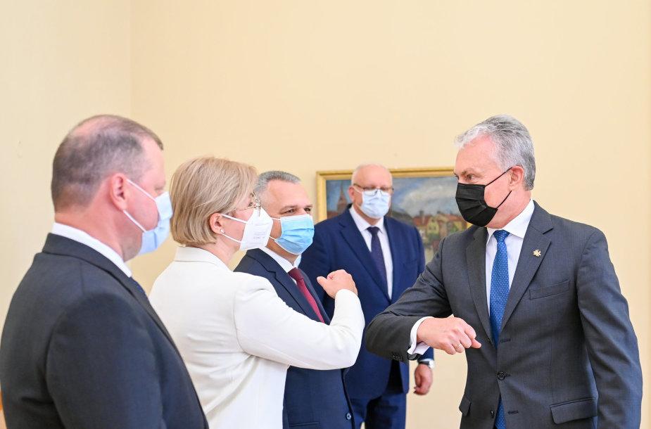 Prezidentas susitinka su Seimo opozicija