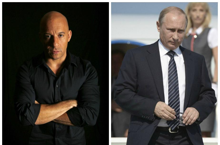 Vinas Dieselis ir Vladimiras Putinas