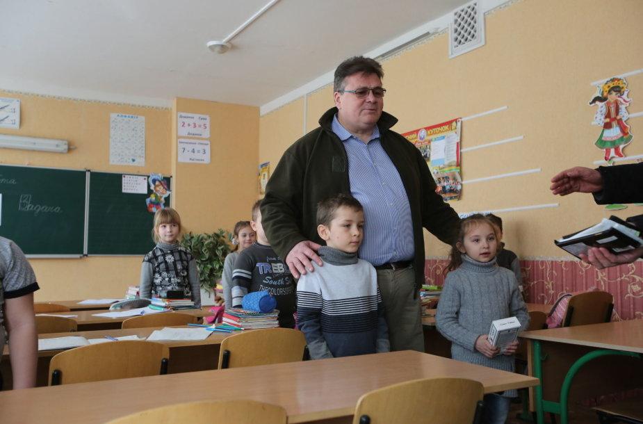 Linas Linkevičius Ukrainoje