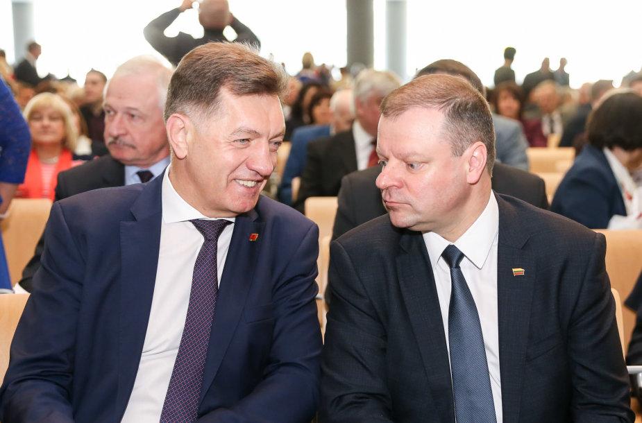 Algirdas Butkevičius ir Saulius Skvernelis