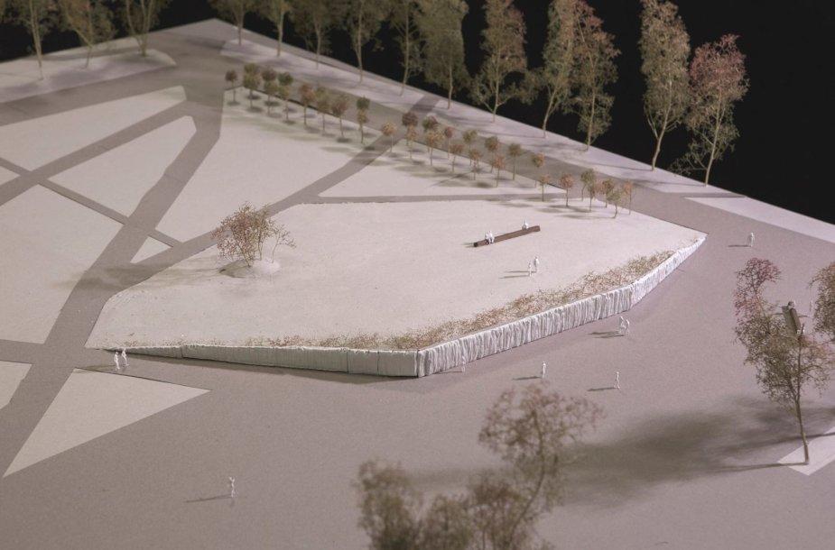 Naujasis Lukiškių aikštės memorialo maketas
