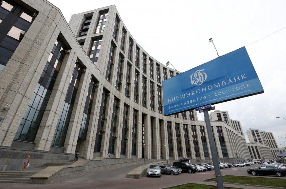 Vakarų sankcijų sulaukęs Rusijos VEB bankas