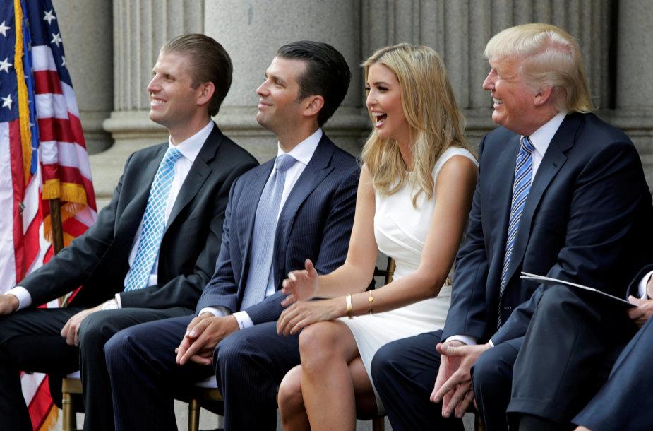 Ericas Trumpas, Donaldas Trumpas jaunesnysis, Ivanka Trump, Donaldas Trumpas
